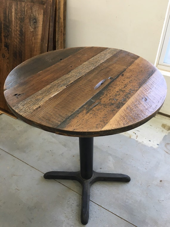 Round Dining Table Custom Wood Variety Optional Table Stand Etsy