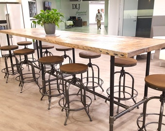 Conference room office desk table-reclaimed wood rustic industrial style
