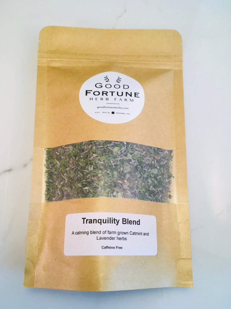 Tranquility tea Lavender and Catmint Calming tea soothing image 0