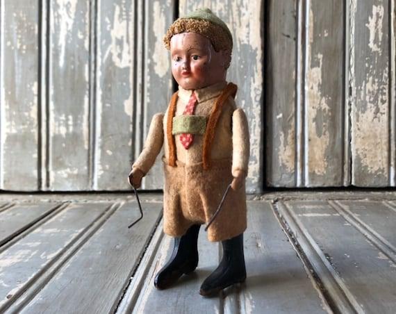 Vintage Wind Up Toy, Schuco German Beer Drinking Boy Tin Toy, German Wind Up Toy, Vintage Lederhosen