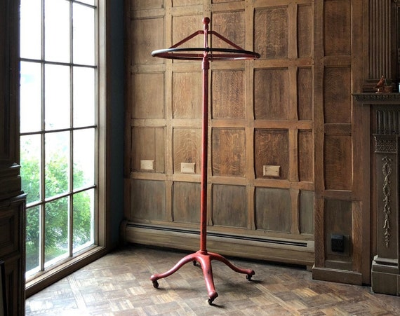 Antique Garment Rack, Rotating Coat Rack, Clothing Rack Display, Coat Hanger, Industrial Decor, Industrial Entryway Furniture
