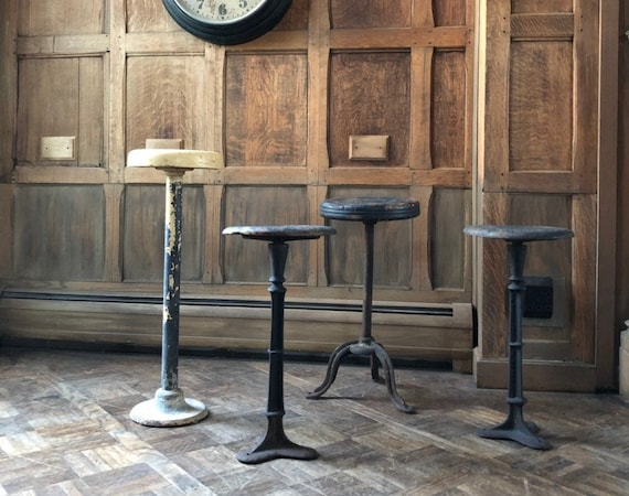 RESERVED - Set Of Four Antique Stools - 100 Deposit