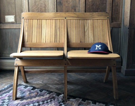 Vintage Theater Seats, Folding Theater Chairs, Entryway Bench Seating, Church Pew Bench