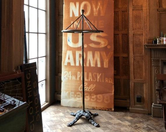 Antique Garment Rack, Curtis Leger Fixture Co. Chicago, Coat Rack, Clothing Rack Display, Coat Hanger, Industrial Decor