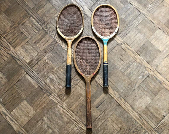 Lot Of 3 Vintage Tennis Rackets, Tennis Racquets, Tennis Room Decor, Sports Decor, Kids Room Decor, Tennis Gift