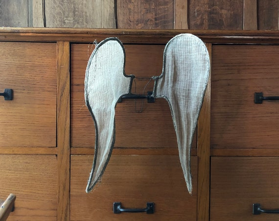Antique Procession Wings, 1920s European Angel Wings, Handmade Holiday Procession Wings, Angel Wings Wall Decor