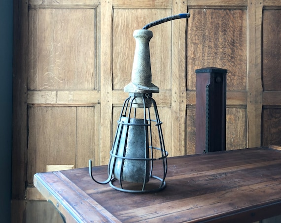 Vintage Trouble Light, Industrial Drop Light, Factory Light, Construction Light, Industrial Lighting Decor, Industrial Office, Pendant Light