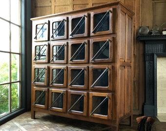 LARGE Antique Grain Bin, Oak General Store Cabinet, Antique Hardware Store Nail Bin, Apothecary Cabinet, Antique Retail Display