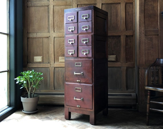 Antique Card Catalog, Multi Drawer Cabinet, Antique File Cabinet, Apothecary Cabinet, Industrial Farmhouse Furniture