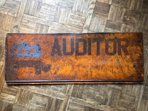 Vintage Republican Auditor Sign, Rusty Political Sign, Antique Republican Vote Auditor Sign, Vintage Metal Political Sign