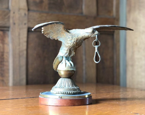 Antique Eagle Finial Statue, Brass Eagle Flag Pole Topper, American Eagle Statue, Americana Decor, Industrial Office