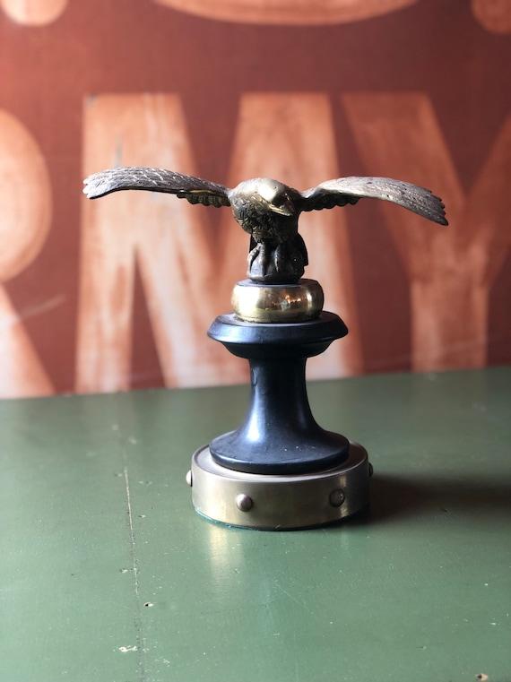 Vintage Eagle Statue, Brass Eagle Statue, Vintage Eagle Flag Pole Finial, American Eagle Statue, Americana Decor, Industrial Office