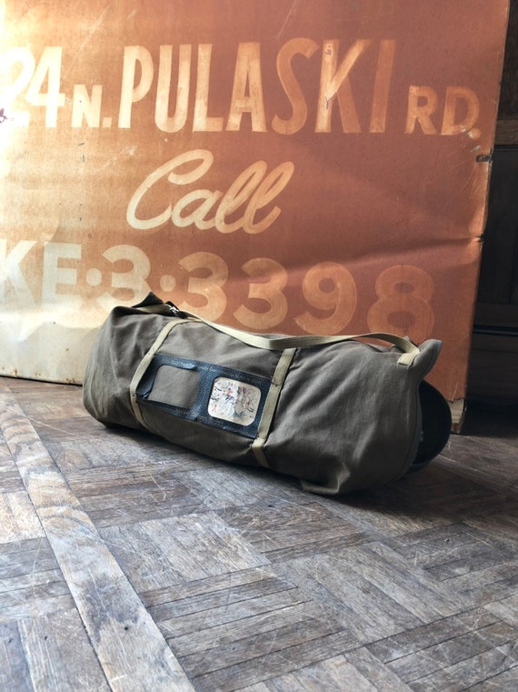 Vintage Laundry Bag, 1932 Ever Ready Parcel Post Laundry Case, Vintage Mail Bag, Blanket Carrier, Wrappable Duffel Bag