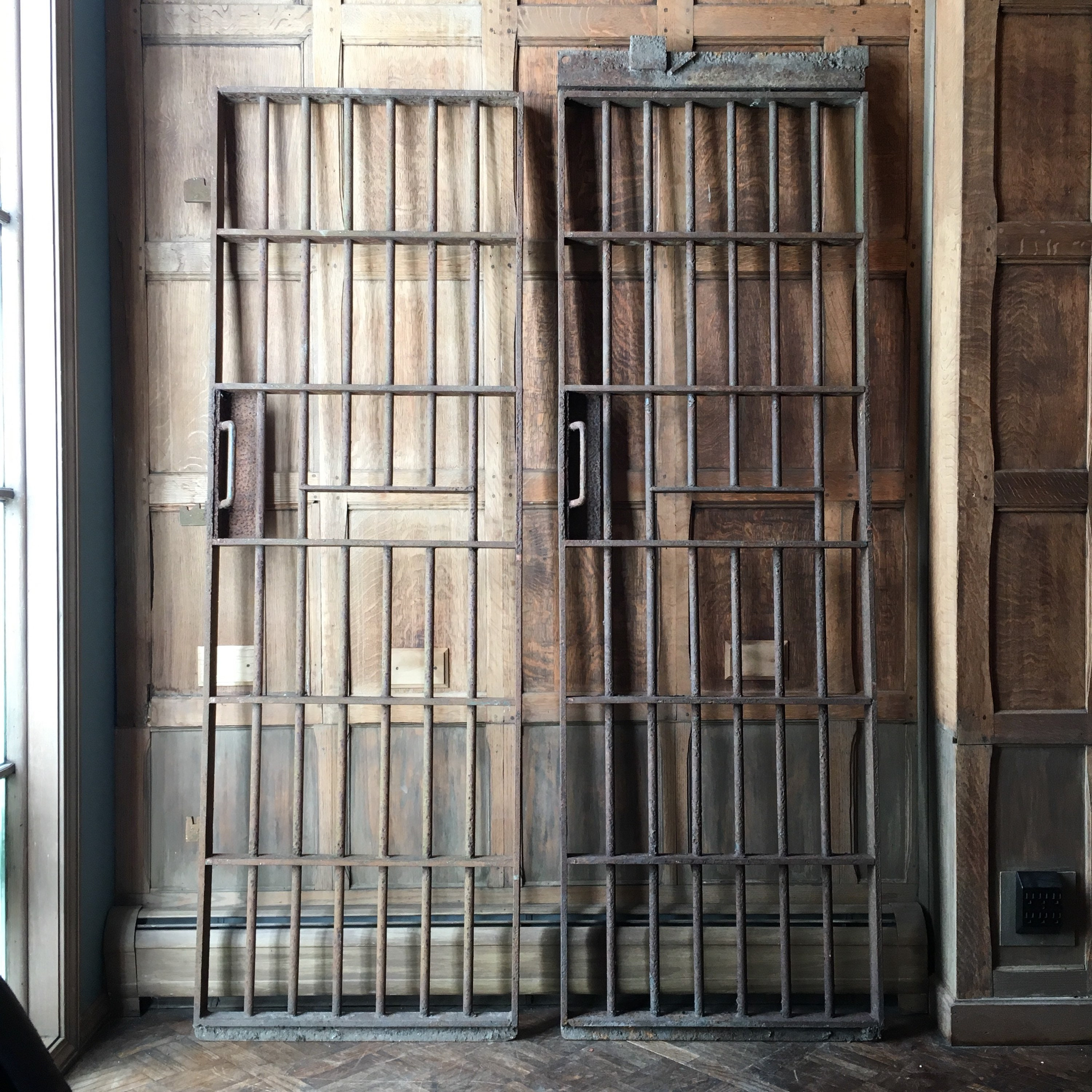 Antique Prison Cell Gate Iron Gates Industrial Wall