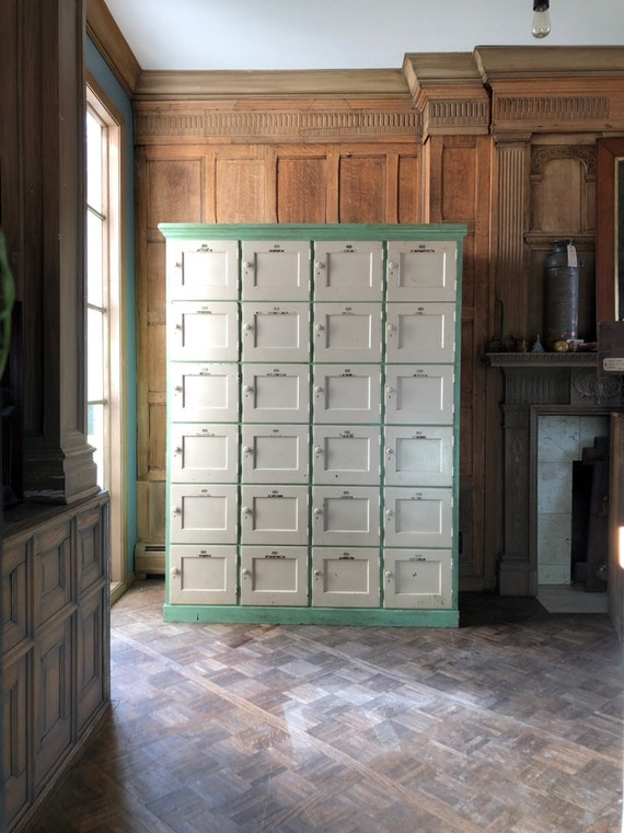 Antique Wood Lockers, Oak And Maple Mudroom Lockers, Entryway Organizer, Laundry Room Lockers, Antique Cubbies