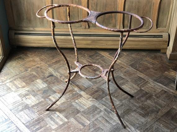 Antique Cast Iron Stand, Cast Iron Table Legs, Antique Plant Stand, Cast Iron Table Base, Cast Iron Wash Basin, Garden Art Decor
