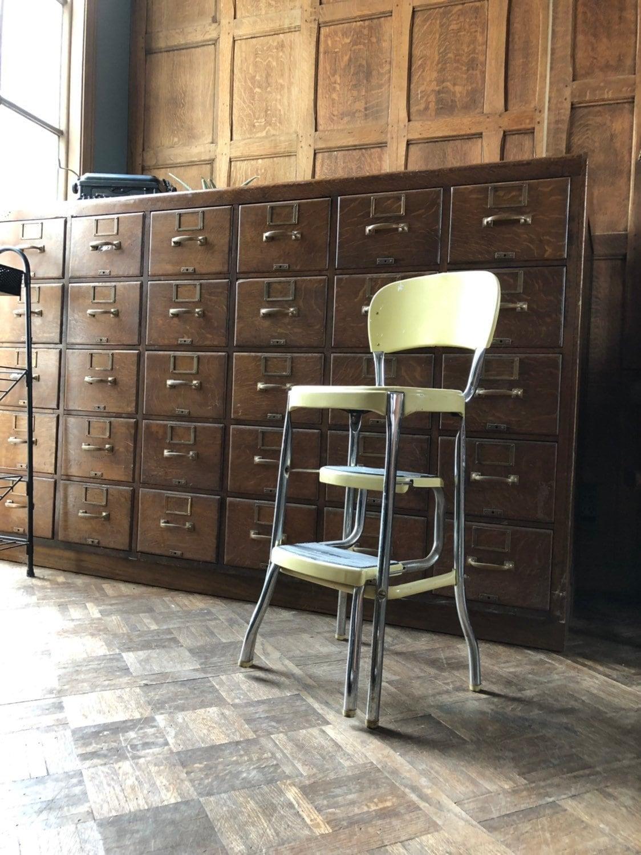 Vintage Chair Step Stool, Mid Century Retro Kitchen Step ...