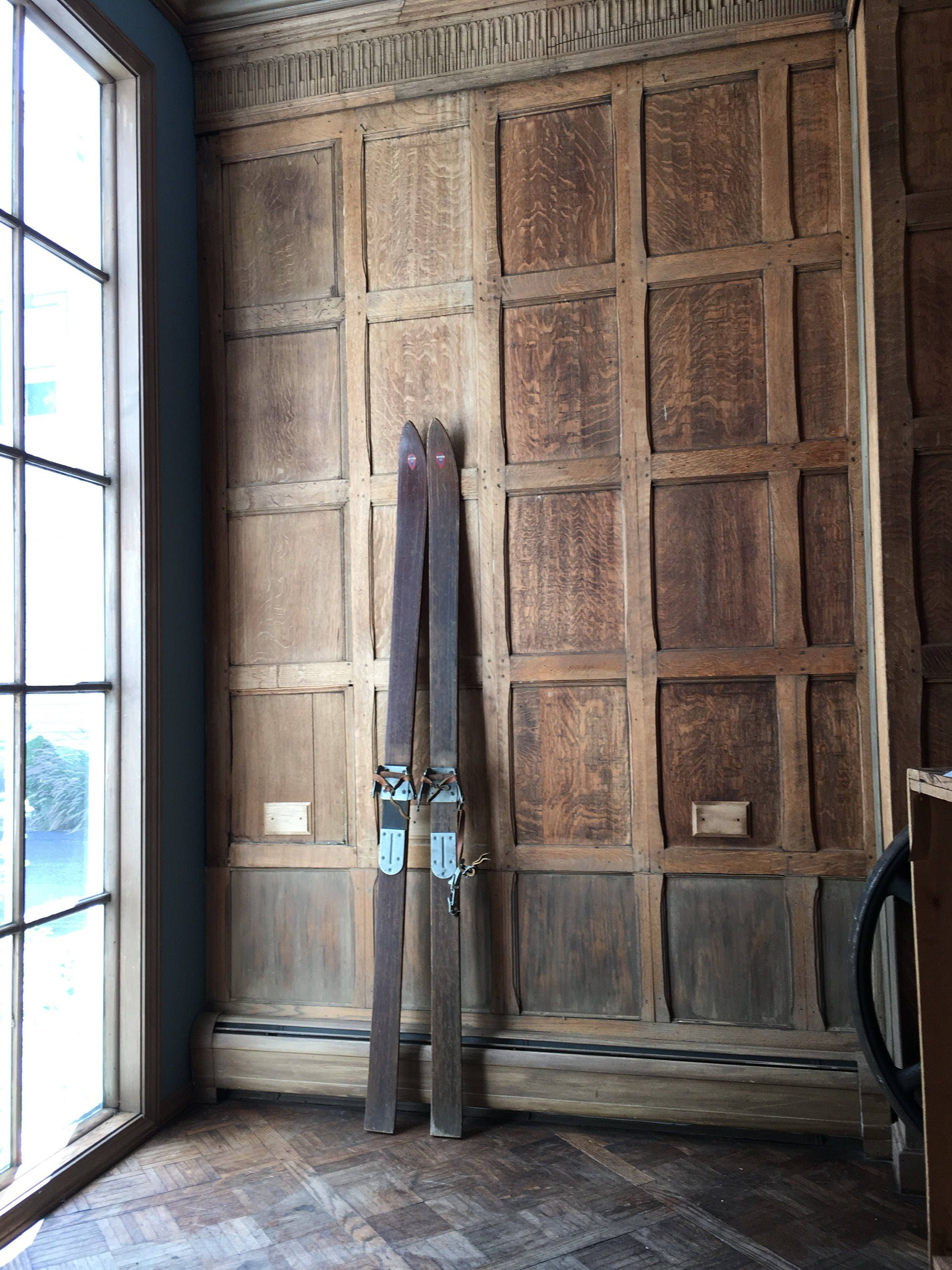 Antique Wood Skis, Ski Meister Wood Skis, Antique Downhill ...