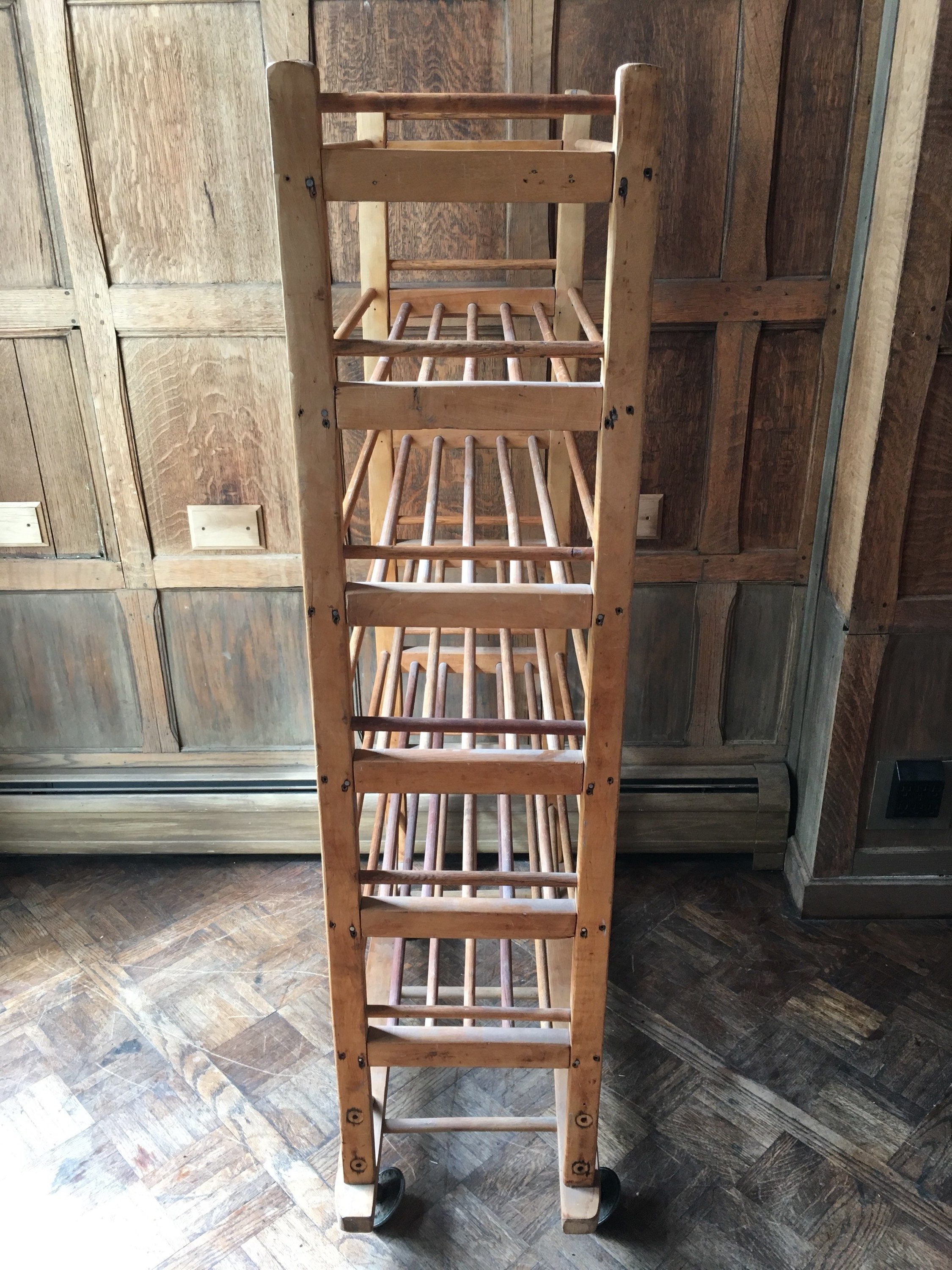 Antique Bakers Rack Early 1900s Wood Bakers Rack Cast