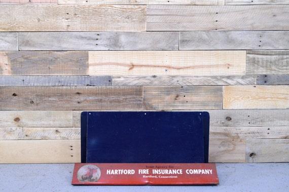 Vintage Hartford Fire Insurance Company Display, Hartford Connecticut, Countertop Advertising Display