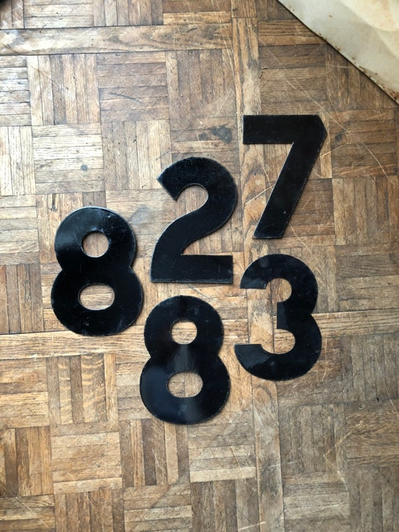 "Vintage Number 10"" Porcelain Marquee Number, Number 2 3 7 8, Sign Numbers, Number Decor, Number Wall Decor"