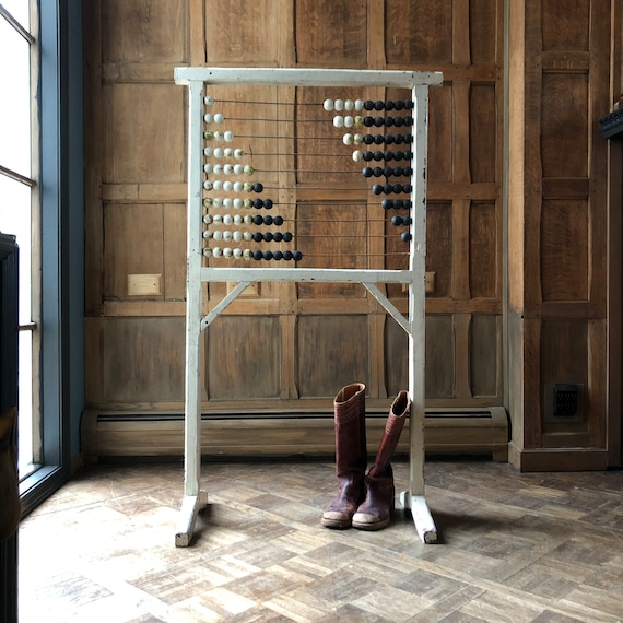 Large Upright Abacus, Antique Abacus, Schoolhouse Abacus, Nursery Decor, Classroom Decor, Schoolhouse Decor, Teacher Gift