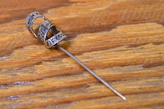 Antique Columbia Bicycle Pin Advertising, Early 1900s Columbia Lapel Stick Pin