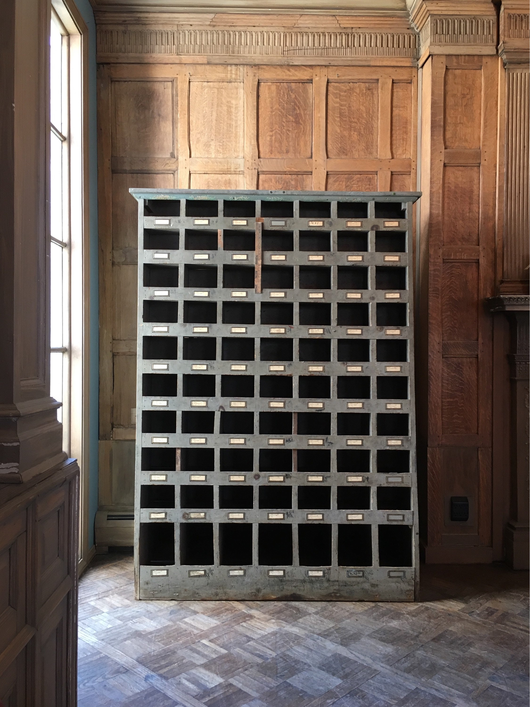 Reserved Antique Double Sided Storage Cubby Hardware