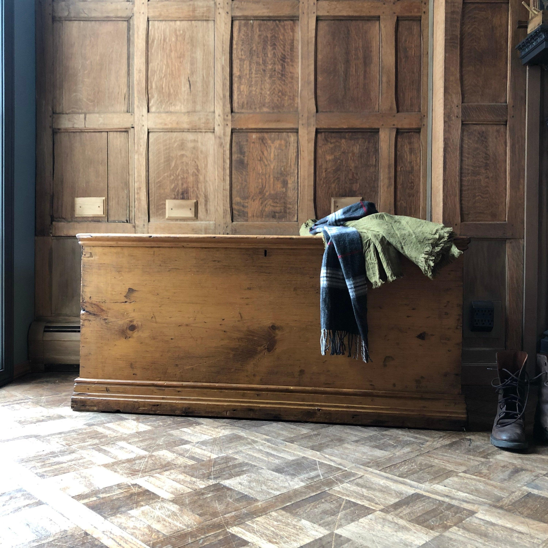 antique pine trunk primitive wood