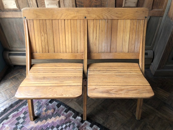 Peachy Vintage Theater Seats Wood Folding Theatre Chairs Entryway Bench Seating Church Pew Bench Caraccident5 Cool Chair Designs And Ideas Caraccident5Info