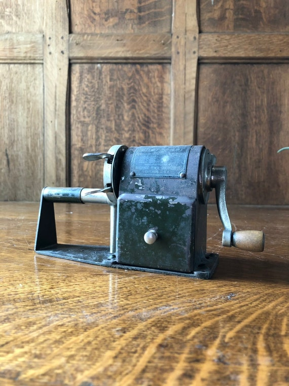 Antique Pencil Sharpener, Dandy Mechanical Pencil Sharpener, Antique Office Decor, Industrial Office