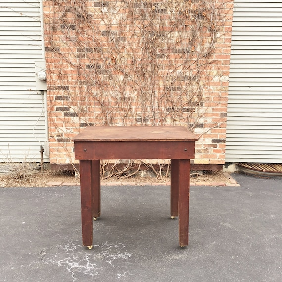 1940s Industrial Workbench Table, Machinist Workbench, Industrial Standing Desk, Kitchen Island