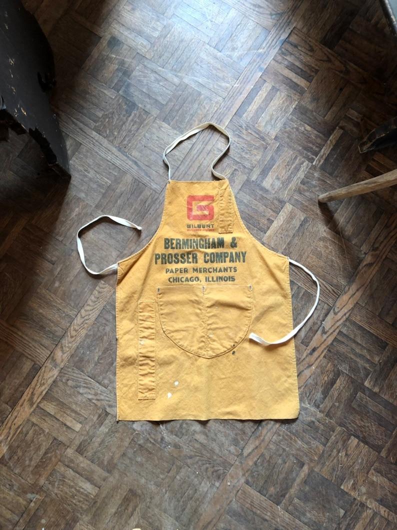 Bermingham /& Prosser Company Paper Merchants Illinois Chicago Canvas Shop Apron Hardware Store Advertising Apron