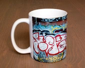 Coffee Mug, Graffiti Artist Signatures, Manhattan Rooftop, NYC, USA
