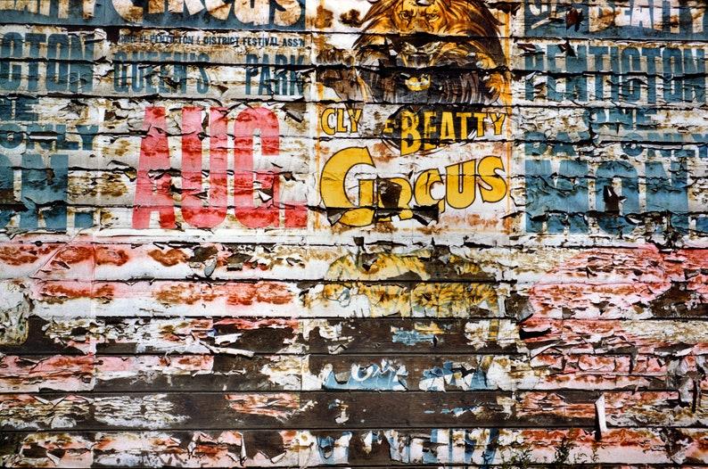 Giclee Print Circus Poster Wall Penticton BC Canada Circa Full Color