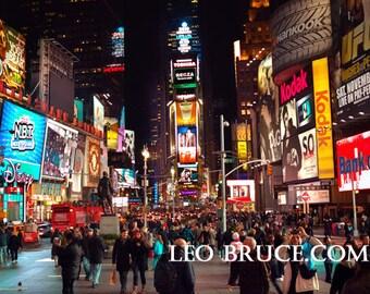 Print, Urban Landscape, Times Square Night, NYC, USA  2011