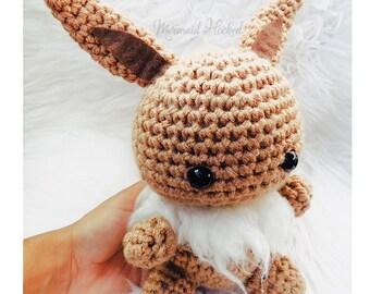 Eevee Crochet Doll- Large Eevee Pokemon
