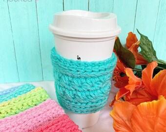 Stars Hollow Coffee Cozy - Reusable Coffee Cozy- Coffee Cozy - Crochet Coffee Sleeve - Coffee Cup Cover