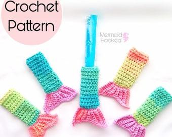 PATTERN- Mermazing Fun Pop Holder - Mermaid Tail Pattern- PDF download- Fun Pop Cozy - Freeze Pop Crochet Pattern