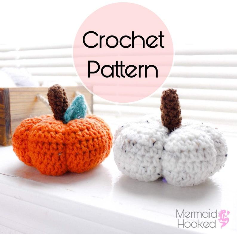 PATTERN Pumpkin Plush Crochet Pattern PDF download image 0