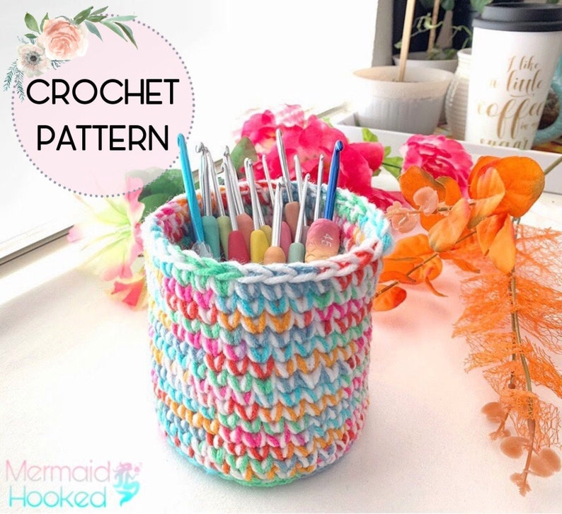 CROCHET PATTERN  Double Trouble Basket  PDF download image 0