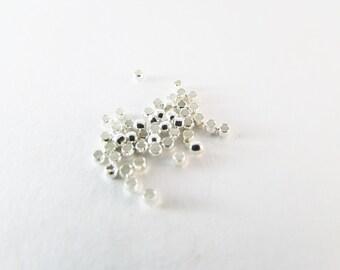 D-03331 - 100 Crimp beads 2mm silver color