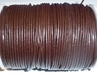 1m. Leathercord 2mm brown
