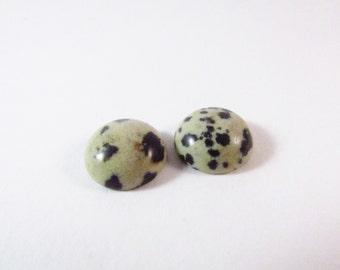 Gemstone Cabochon Dalmatian Jasper 12mm