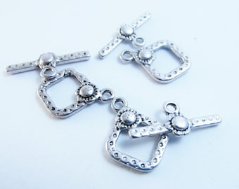 5/10 Toggle Clasps 21x15mm Tibetan Style nickel free