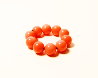 D-00951 - 10 Glass beads 6mm Coral