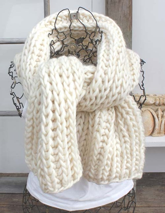 Extra-large Chunky tricot écharpe Highland laine tricoter que   Etsy ec0123a21c7