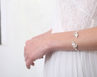 Open Cuff Bracelet,  wedding arm jewelry