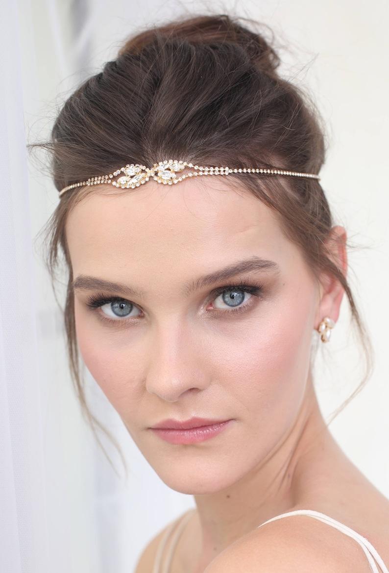 8dd85197421d Boho Bridal Headbands Bohemian Bridal Headpiece Rhinestone