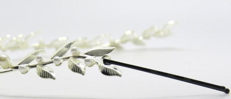 bridal accessories  tiara Wedding Headband bridal Hair accessories Brides Headpieces Gentle silver Leafs Hair Wreath silver Leaf Crown